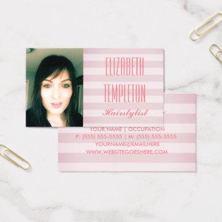 Cartes De Visite Ajoutez le styliste en coiffure de photo ou