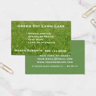 Cartes De Visite Aménagement de pelouse de vert de soin de pelouse
