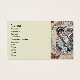 Cartes De Visite Amour vintage d'antiquité de fille de Gibson
