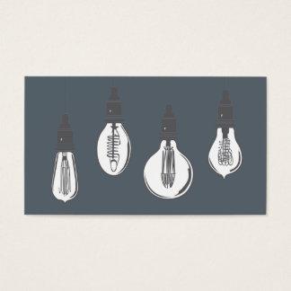 Cartes De Visite Ampoules d'Edison