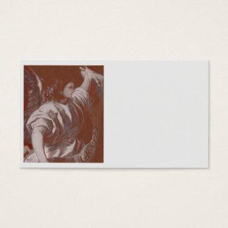 Cartes De Visite Ange d'annonce de Titian avec une bannière