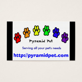 Cartes De Visite Animal familier de pyramide