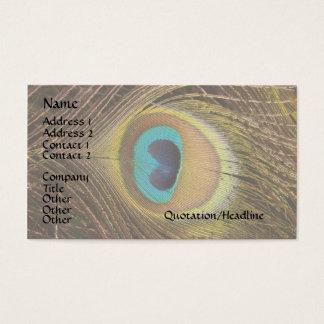 Cartes De Visite Animaux de faune de plumes d'oiseau de paon