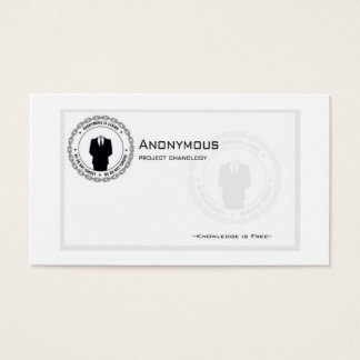 Cartes De Visite Anons-affaire-carte
