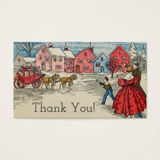 Cartes De Visite Antiquité victorienne vintage de Merci de Noël