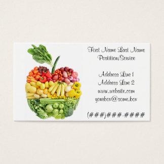 Cartes De Visite Apple végétarien