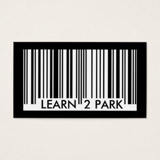 Cartes De Visite apprenez à garer code barres