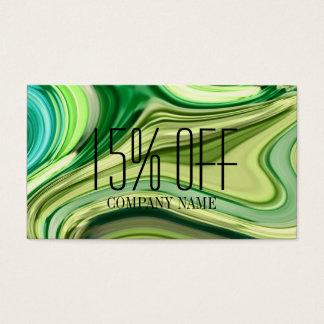 Cartes De Visite aquarelle de vert de chaux d'abrégé sur SPA de