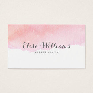 Cartes De Visite Aquarelle rose