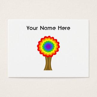 Cartes De Visite Arbre coloré lumineux dans des couleurs