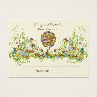 Cartes De Visite Arbre floral enchanté de conte de fées de