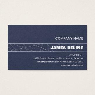 Cartes De Visite Architecte blanc bleu minimaliste