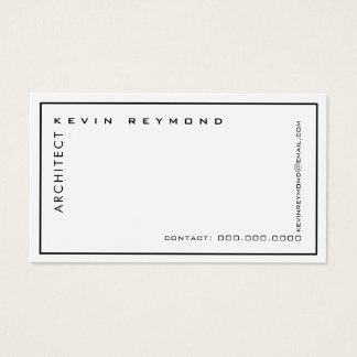 Cartes De Visite architecte blanc élégant professionnel minimaliste