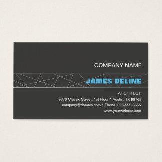 Cartes De Visite Architecte bleu gris minimaliste