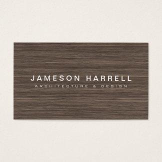 Cartes De Visite Architecte en bois moderne Luxe, concepteur de
