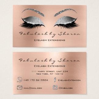 Cartes De Visite Argent de rose de diamant de parties scintillantes