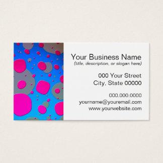 Cartes De Visite Art moderne rose et bleu lumineux