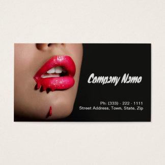 Cartes De Visite Artiste de maquillage/modèle professionnels de