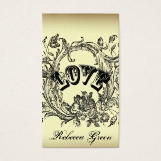 Cartes De Visite Artiste élégant vintage de tatouage de remous de