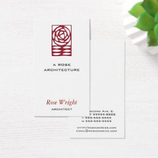 Cartes De Visite Arts roses et architecte de métiers