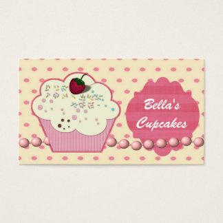 cartes de visite assez roses de petit gâteau