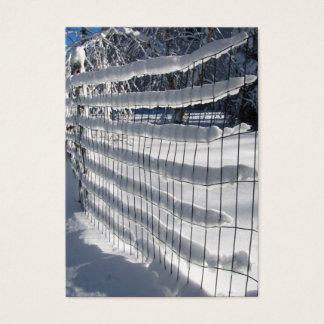 Cartes De Visite ATC de ~ de barrière de neige
