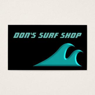 Cartes De Visite Attrapez un surf de cool de vague