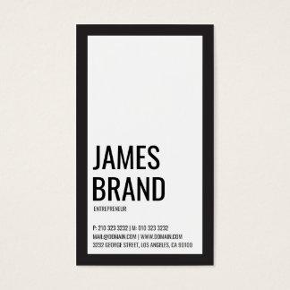 Cartes De Visite Audacieux minimaliste noir et blanc