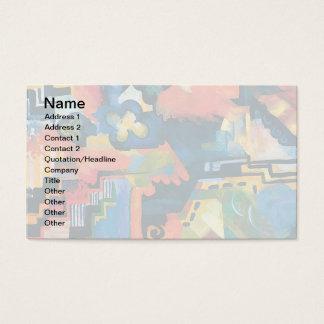 Cartes De Visite Auguste Macke - hommage à l'art moderne abstrait
