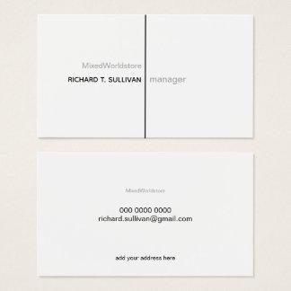 Cartes De Visite B/w élégant et moderne du chef d'entreprise