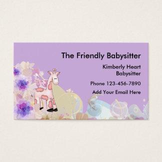 Cartes De Visite Babysitter mignonne Businesscards