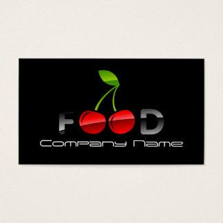 Cartes De Visite Baie rouge de cerise de nutritionniste de légumes