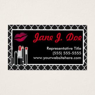 Cartes De Visite Baiser cosmétique noir d'Avon