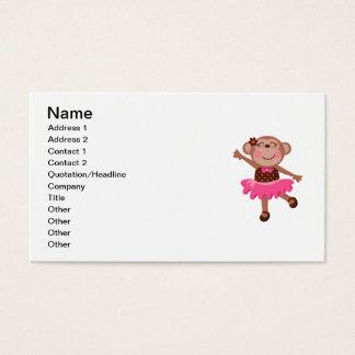 Cartes De Visite Ballerine de singe