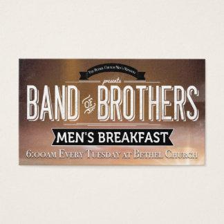 Cartes De Visite Bande d'église de lieu de prière de petit déjeuner