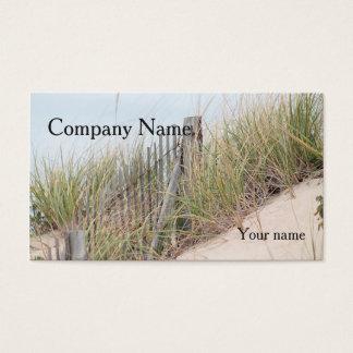 Cartes De Visite Barrière dunaire d'herbe et de plage