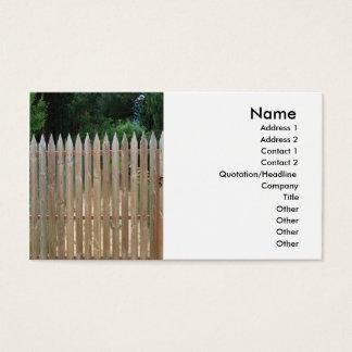 Cartes De Visite Barrière en bois