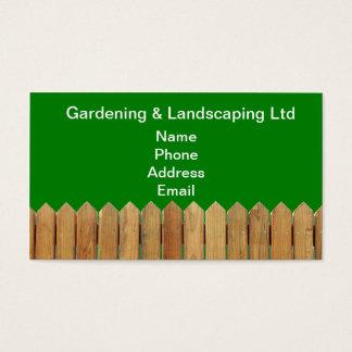 Cartes De Visite Barrière en bois naturelle de jardin