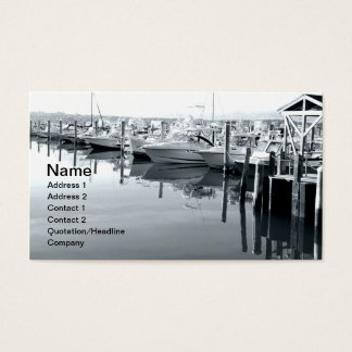 Cartes De Visite bateaux dans la marina dans Niantic le Connecticut