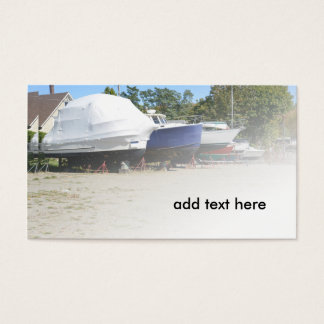 Cartes De Visite bateaux dans le dock sec