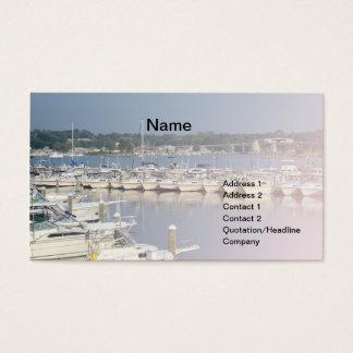 Cartes De Visite Bateaux dans une marina par la rivière de Niantic
