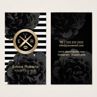 Cartes De Visite Bâton de cire d'Esthetician et noir de logo de
