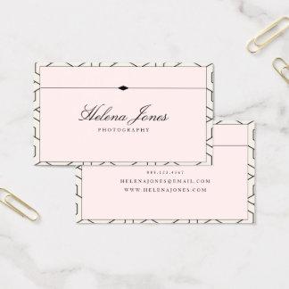 Cartes De Visite Beau géométrique rose de ★