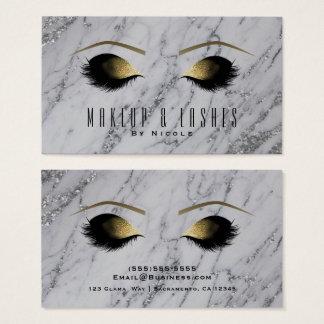 Cartes De Visite Beauté fascinante de cils de maquillage de marbre