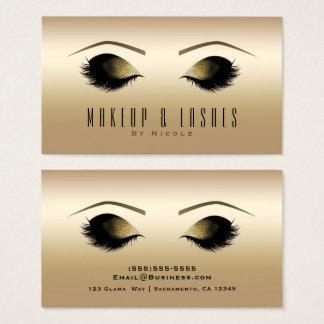 Cartes De Visite Beauté fascinante de cils de maquillage d'éclat et