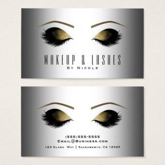 Cartes De Visite Beauté fascinante moderne de cils de maquillage