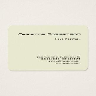Cartes De Visite Beige de charme minimaliste de coin rond