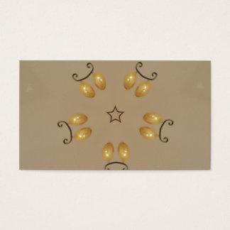Cartes De Visite Beige rustique d'or jaune d'oeufs de pâques de