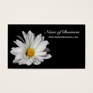Cartes De Visite Belle marguerite blanche florale élégante sur le