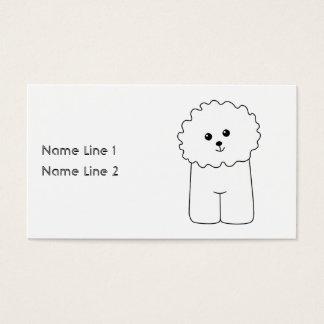 Cartes De Visite Bichon Frise, chien mignon